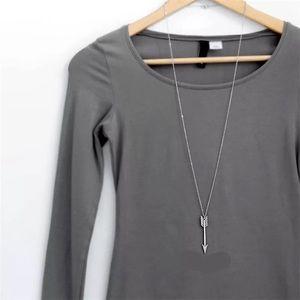 Jewelry - Silver Antique Arrow long pendant necklace